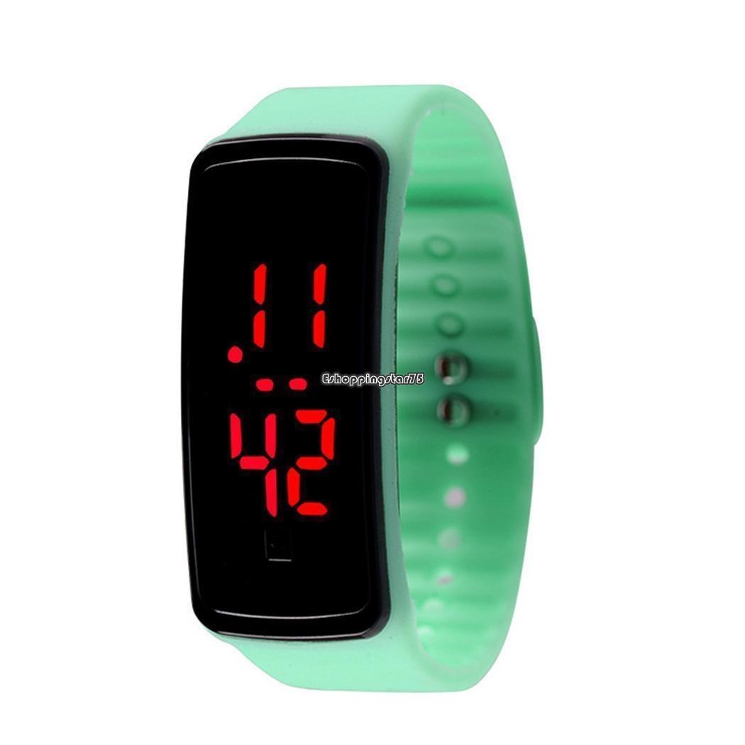ebc08837135d Los Niños Reloj Led Reloj Digital Silicona Deporte Pulsera ...