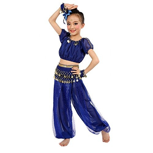 los niños traje foutou girls belly india dance traje de rop
