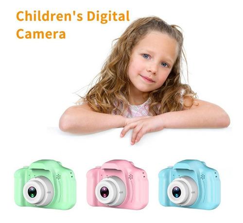 los niños x2 de alta definición cámara digital de color rosa