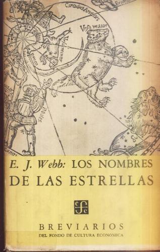 los nombres de las estrellas e.j. webb