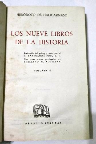 los nueve libros de historia herodoto