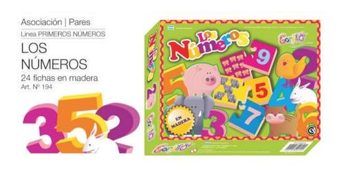 los números juego 24 fichas en madera gordillo, diverti toys
