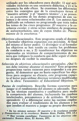 los objetivos de la enseñanza j. popham e. baker / educación