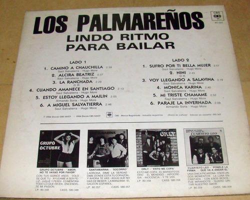 los palmareños lindo ritmo para bailar lp argentino promo