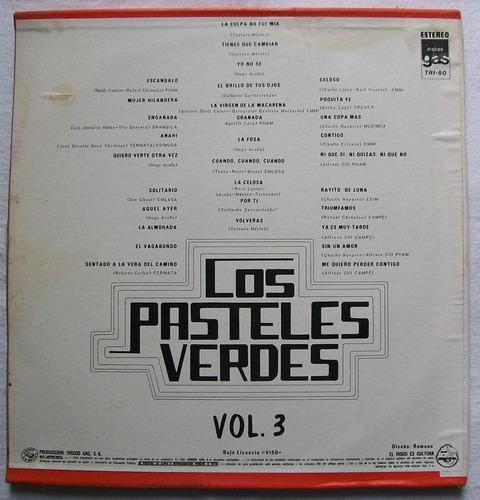 los pasteles verdes. vol. 3 album triple lp's. gas 1981