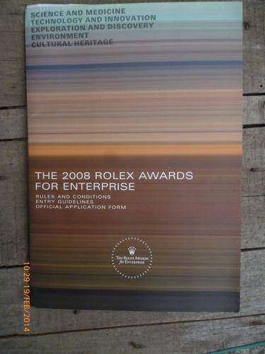 los premios rolex para empresas 2008