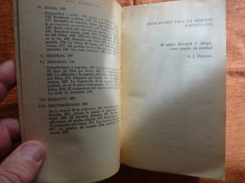 los profetas - el hombre y su vocacion - abraham j. heschel