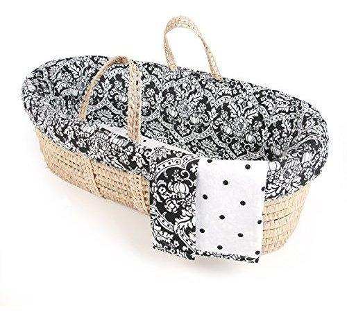 los renacuajos damasco moises cesta ropa de cama solo cesta