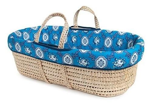 los renacuajos moises cesta y juego de ropa azul cama club a