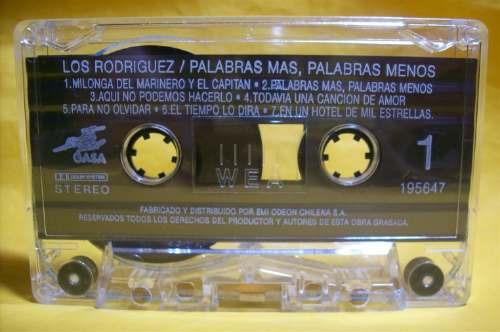 los rodriguez palabras mas, palabras menos cassette