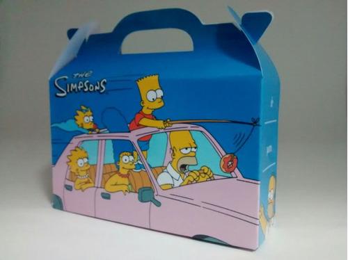 los simpson - cajita golosinera - pack x40