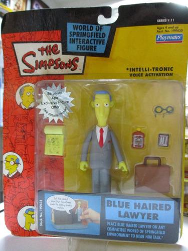 los simpson figura de accion abogado marca playmates