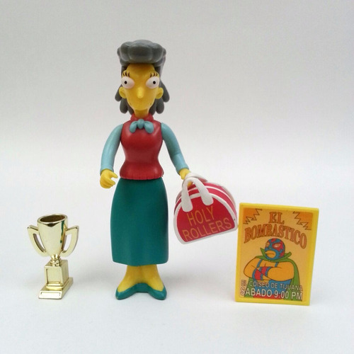 los simpsons helen lovejoy figura original playmates