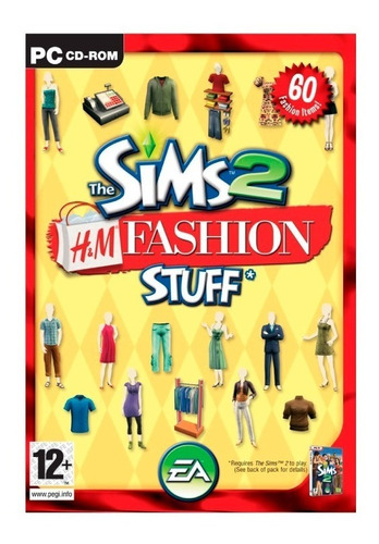 los sims 2 h&m moda accesorios juego pc original fisico cd
