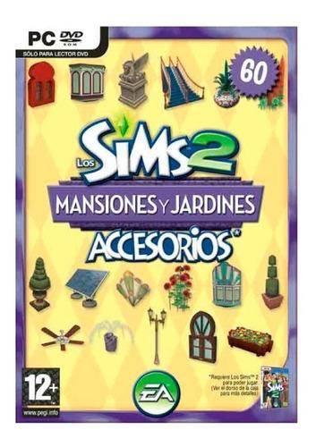 los sims 2 mansiones jardin juego pc original fisico
