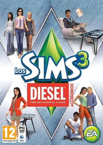 los sims 3 diesel pc original pack moda y muebles centro