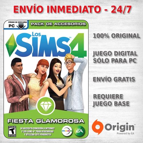 los sims 4 fiesta glamorosa juegos pc originales expansion