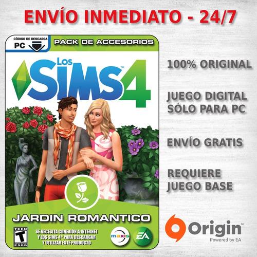 los sims 4 jardin romantico expansion juego pc digital