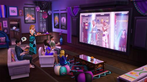 los sims 4 noche de cine movie hangout juego pc expansion