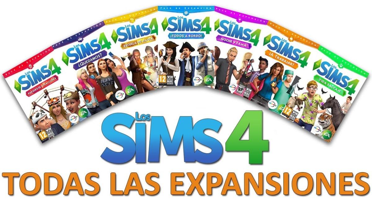 descargar los sims 4 con todas las expansiones