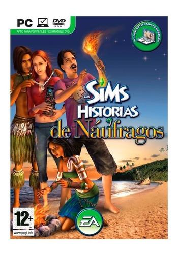 los sims historia de naufragos pc original fisico