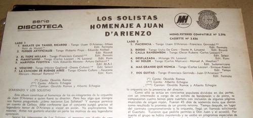 los solistas homenaje a juan d'arienzo / echague ramos lp