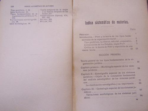 los tipos sociales y el derecho * jose mazzarella * 1913 *