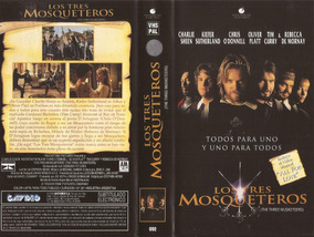 Los Tres Mosqueteros Vhs Charlie Sheen Kiefer Sutherland