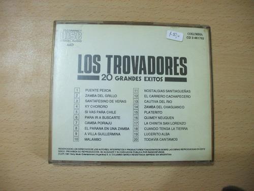 los trovadores 20 grandes exitos-columbia-año 1991