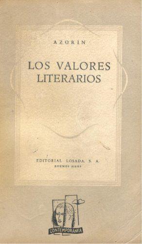 los valores literarios - azorín.