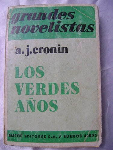 los verdes años. a.j. cronin. $209 dhl