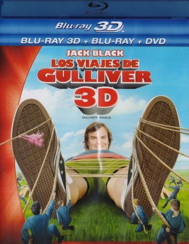 los viajes de gulliver pelicula blu-ray 3d + blu-ray + dvd