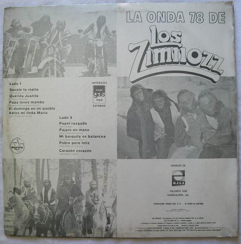 los zimiiozz. la onda 78. disco l.p. sellado gas 1978