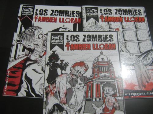 los zombies tambien lloran comic numeros 1, 2 y 3
