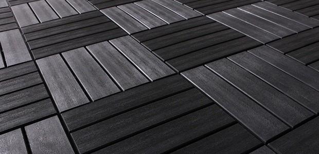 Interlocking patio floor tiles