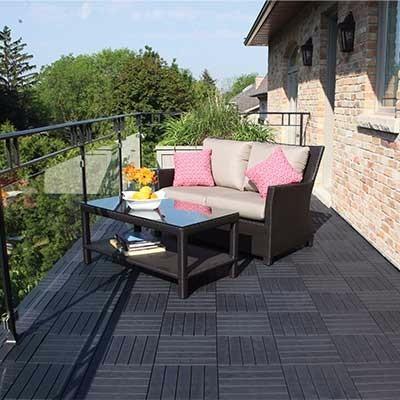 Losa para patio exterior 10 losas de 30 5 x 30 5 cm - Losas para exterior ...