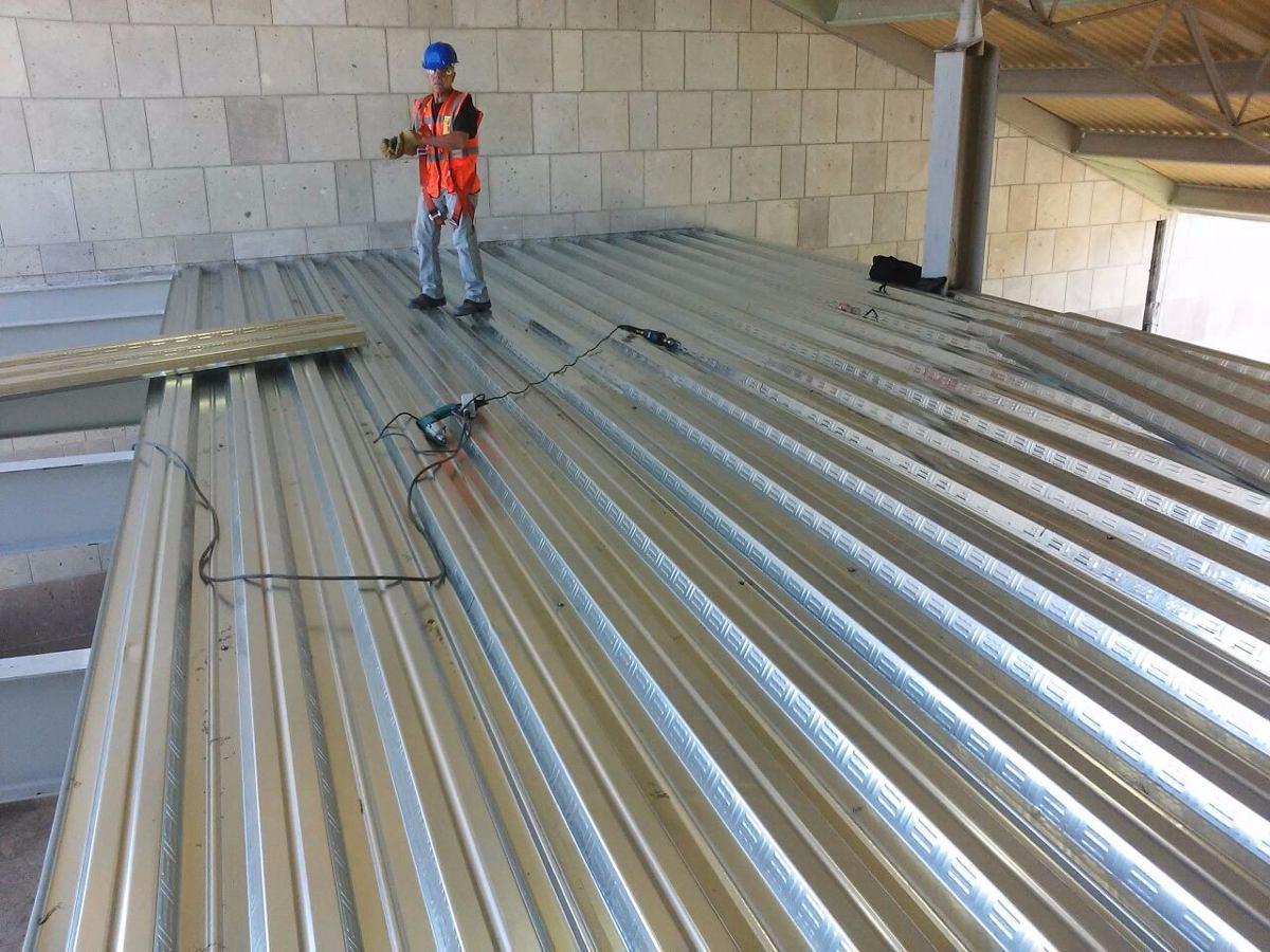 Losacero instalacion estructura metalica en queretaro - Precio estructura metalica ...