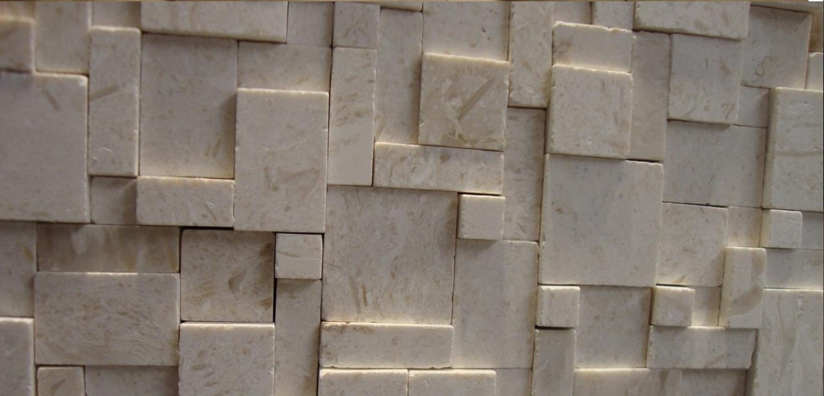 Loseta de marmol y travertino serie 3d tridimensional for Pisos de loseta para exteriores