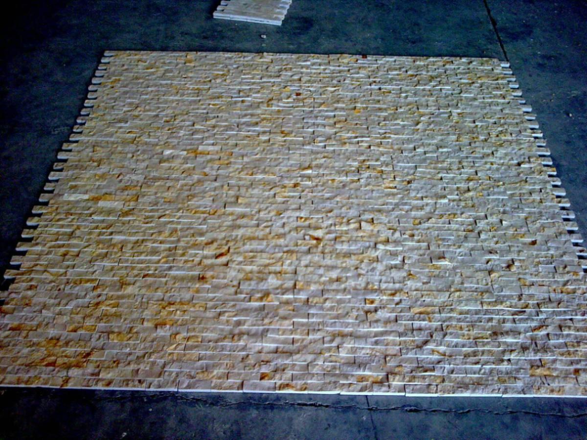 Loseta marmol gold acabado rustico dise o horizontal for Marmol rustico para exteriores