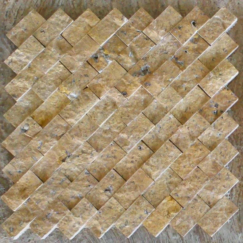 Loseta marmol travertino acabado rustico ideal p fachadas for Comprar losetas vinilicas pared