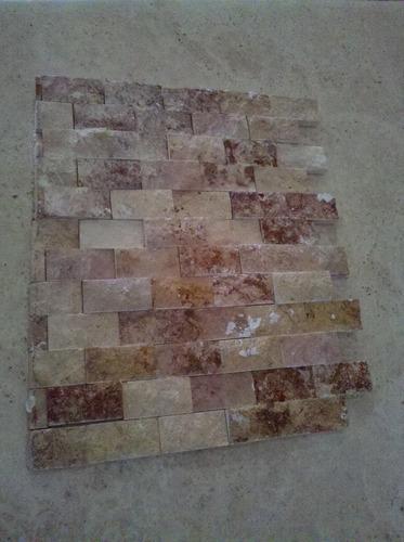 loseta  marmol travertino acabado rustico ideal p/fachadas