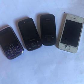 Lote  Celular Retirar Peças iPhone Nokia 2220 Samsung