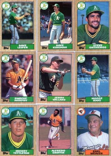 lote-01- c/54 cards- 06 times de baseball-usa-1987