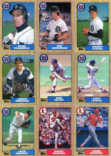lote-02-c/54 cards- 06 times de baseball-usa-1987