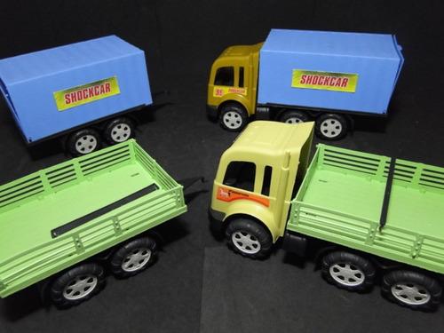 lote 02 caminhão bi-trem   60cm comprim. 13cm larg 15 altura