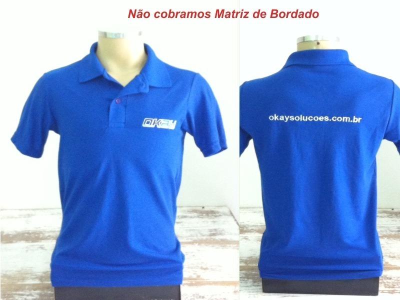 8bccfdf1c05a Lote 04 Camisas Polo Uniforme Bordado Logo Peito Site Costas