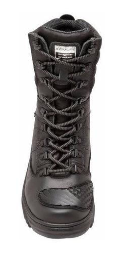 lote 05 pares bota  militar motociclista azimute  couro 1907