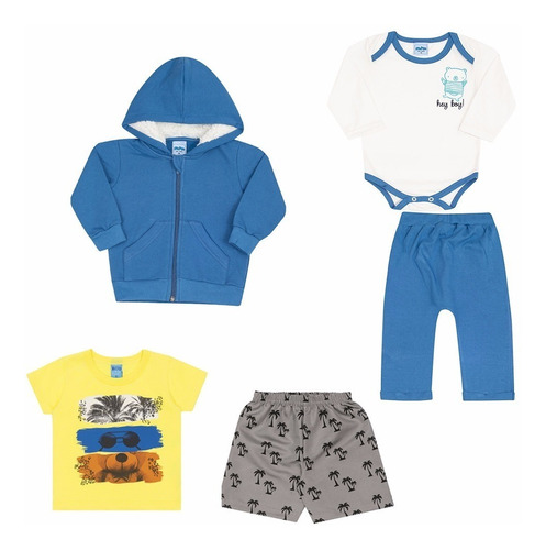 lote 05 roupas bebê masculino qualidade serelepe p m e g