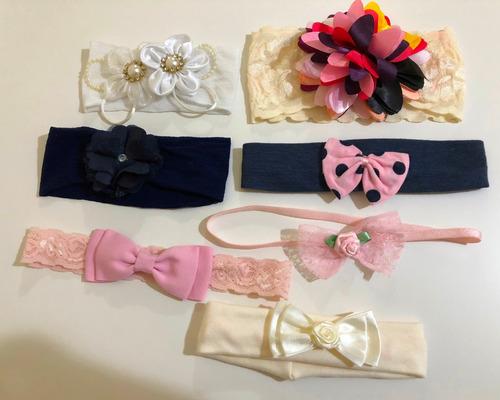 lote 08 faixa / laço / tiara de cabeça para bebê infantil