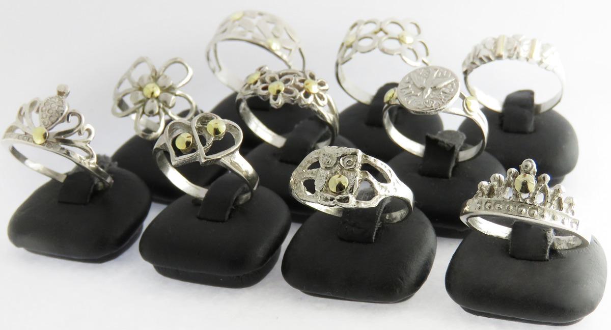 63bcd2dd95fd lote 10 anillos plata y oro revendedores x mayor. Cargando zoom.